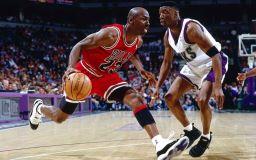 Estrela do basquete Michael Jordan imagem