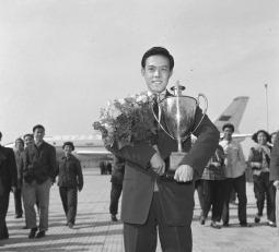 Campeão de tênis de mesa Rong Guotuan imagem