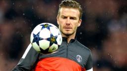 Jogador de futebol David Beckham imagem